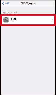 他社SIMのプロファイル表示を確認し選択