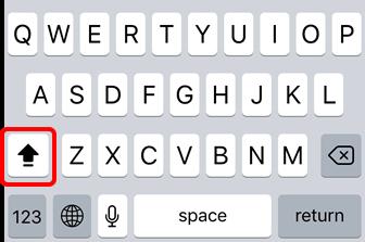 Iphoneipadアルファベットの大文字を連続して入力する方法は