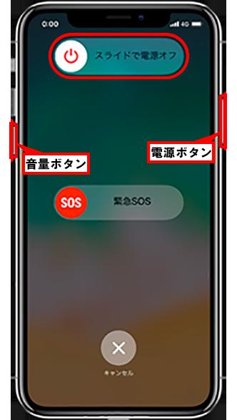 iphone ios11 電源 オンオフ