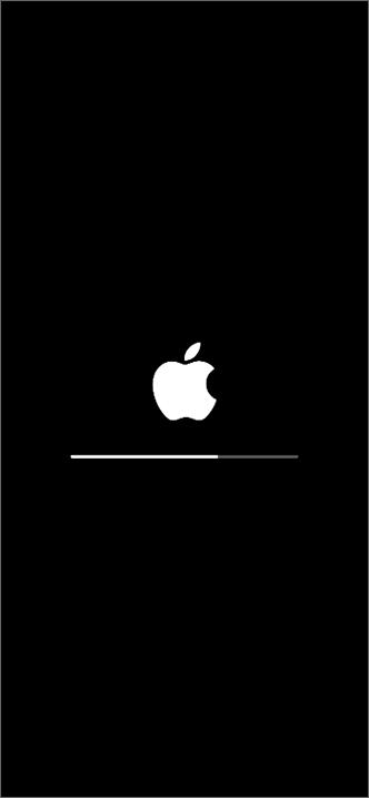 移行先の iPhone が自動で再起動